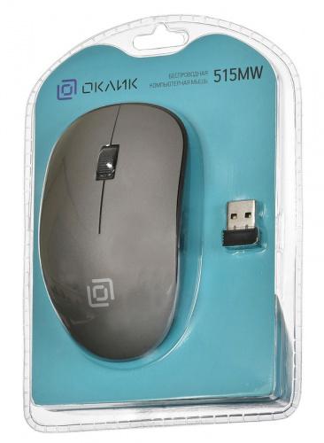 Мышь Оклик 515MW черный/серый оптическая (1200dpi) беспроводная USB (2but) фото 7