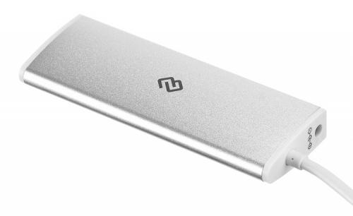 Разветвитель USB-C Digma HUB-4U3.0-UC-S 4порт. серебристый фото 2