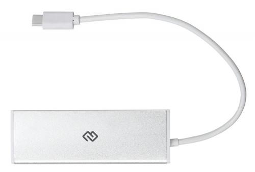 Разветвитель USB-C Digma HUB-4U3.0-UC-S 4порт. серебристый фото 3