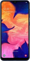 "Смартфон Samsung SM-A105F Galaxy A10 32Gb 2Gb синий моноблок 3G 4G 2Sim 6.2"" 720x1520 Android 9 13Mpix 802.11 b/g/n GPS GSM900/1800 GSM1900 TouchSc MP3 microSD max512Gb"