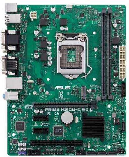Материнская плата Asus PRIME H310M-C R2.0 Soc-1151v2 Intel H310C 2xDDR4 mATX AC`97 8ch(7.1) GbLAN+VGA+DVI