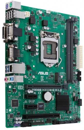 Материнская плата Asus PRIME H310M-C R2.0 Soc-1151v2 Intel H310C 2xDDR4 mATX AC`97 8ch(7.1) GbLAN+VGA+DVI фото 2