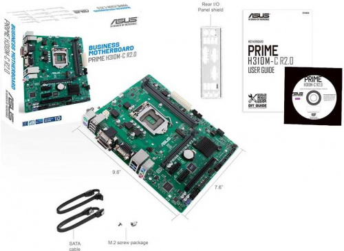 Материнская плата Asus PRIME H310M-C R2.0 Soc-1151v2 Intel H310C 2xDDR4 mATX AC`97 8ch(7.1) GbLAN+VGA+DVI фото 5
