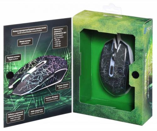 Мышь Oklick 905G INVASION черный/рисунок оптическая (3200dpi) USB (5but) фото 14