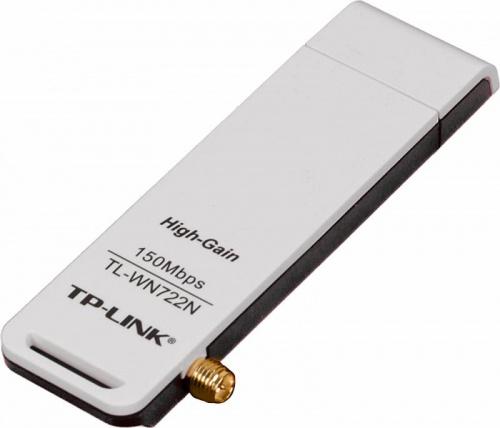 Сетевой адаптер WiFi TP-Link TL-WN722N N150 USB 2.0 (ант.внеш.съем) 1ант. фото 4