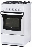 Плита Газовая Flama FG 24230 W белый (без крышки) реш.чугун