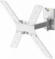 """Кронштейн для телевизора Holder LCD-5520-B белый 32""""-55"""" макс.45кг настенный поворотно-выдвижной и наклонный"""