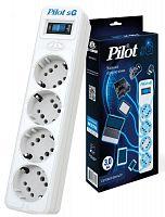 Сетевой фильтр Pilot SG 4x8 3м (4 розетки) белый (коробка)