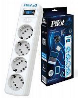 Сетевой фильтр Pilot SG 4x8 5м (4 розетки) белый (коробка)