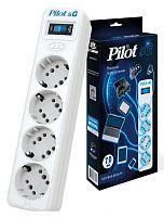 Сетевой фильтр Pilot SG 4x8 7м (4 розетки) белый (коробка)