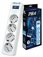 Сетевой фильтр Pilot SG 4x8 10м (4 розетки) белый (коробка)