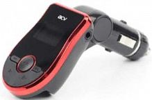 Автомобильный FM-модулятор ACV FMT-113 черный MicroSD USB PDU (26561)