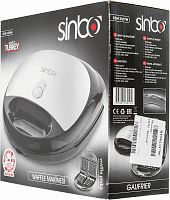 Вафельница Sinbo SSM 2517W 750Вт черный/серебристый