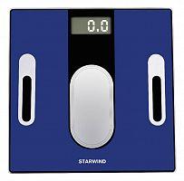 Весы напольные электронные Starwind SSP6050 макс.180кг синий