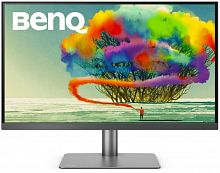 "Монитор Benq 27"" PD2720U темно-серый IPS LED 5ms 16:9 HDMI M/M матовая HAS Pivot 350cd 3840x2160 DisplayPort Ultra HD USB 5кг"