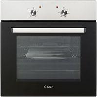 Духовой шкаф Электрический Lex EDM 040 IX нержавеющая сталь/черный