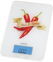 Весы кухонные электронные BBK KS106G макс.вес:5кг белый/специи