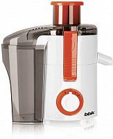 Соковыжималка центробежная BBK JC060-H11 550Вт белый/оранжевый