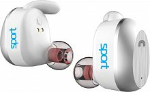 Гарнитура вкладыши Elari NanoPods Sport белый беспроводные bluetooth (в ушной раковине)