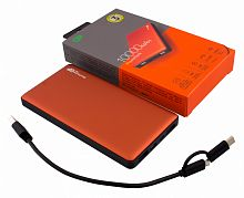 Мобильный аккумулятор GP Portable PowerBank MP10 Li-Pol 10000mAh 2.4A+2.4A+3A оранжевый 2xUSB