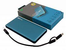 Мобильный аккумулятор GP Portable PowerBank MP10 Li-Pol 10000mAh 2.4A+2.4A+3A синий 2xUSB