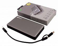 Мобильный аккумулятор GP Portable PowerBank MP15 15000mAh 2.4A 2xUSB серый (MP15MAGR)
