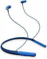 Гарнитура вкладыши JBL Live 200 BT 1.2м синий беспроводные bluetooth (шейный обод)