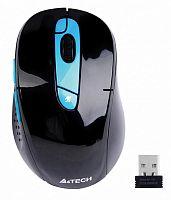 Мышь A4 G11-570FX черный/синий оптическая (2000dpi) беспроводная USB (7but)