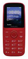 "Мобильный телефон Philips E109 Xenium красный моноблок 2Sim 1.77"" 128x160 GSM900/1800 MP3 FM microSD max16Gb"