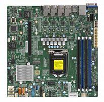 Материнская Плата SuperMicro MBD-X11SCL-LN4F-O Soc-1151 iC242 mATX 4xDDR4 6xSATA3 SATA RAID i210AT 4xGgbEth Ret