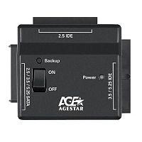 "Адаптер-переходник для HDD AgeStar FUBCP2 IDE SATA пластик черный 2.5"" 3.5"" 5.25"""