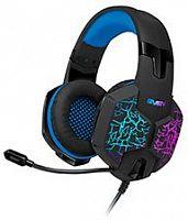 Наушники с микрофоном Sven AP-U980MV черный/синий 2.2м мониторные оголовье