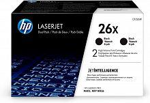 Картридж лазерный HP 26X CF226XD черный x2упак. (18000стр.) для HP LJ Pro M402/M426