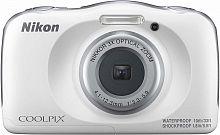 """Фотоаппарат Nikon CoolPix W150 белый 13.2Mpix Zoom3x 2.7"""" 1080p 21Mb SDXC CMOS 1x3.1 5minF HDMI/KPr/DPr/WPr/FPr/WiFi/EN-EL19"""