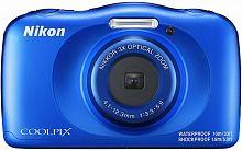 """Фотоаппарат Nikon CoolPix W150 синий 13.2Mpix Zoom3x 2.7"""" 1080p 21Mb SDXC CMOS 1x3.1 5minF HDMI/KPr/DPr/WPr/FPr/WiFi/EN-EL19"""