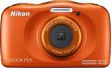 """Фотоаппарат Nikon CoolPix W150 оранжевый 13.2Mpix Zoom3x 2.7"""" 1080p 21Mb SDXC CMOS 1x3.1 5minF HDMI/KPr/DPr/WPr/FPr/WiFi/EN-EL19"""