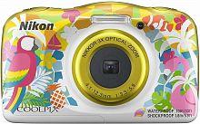 "Фотоаппарат Nikon CoolPix W150 курорт 13.2Mpix Zoom3x 2.7"" 1080p 21Mb SDXC CMOS 1x3.1 5minF HDMI/KPr/DPr/WPr/FPr/WiFi/EN-EL19"