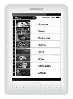 "Электронная книга Digma E63W 6"" E-Ink Carta 800x600 600MHz/4Gb/microSDHC белый"