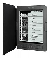 "Электронная книга Digma R656 Cover 6"" E-Ink Carta 800x600 600MHz/4Gb/microSDHC/подсветка дисплея темно-серый (в компл.:обложка)"