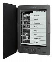"Электронная книга Digma E656 Cover 6"" E-Ink Carta 800x600 600MHz/4Gb/microSDHC темно-серый (в компл.:обложка)"