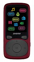 "Плеер Hi-Fi Flash Digma B4 8Gb красный/1.8""/FM/microSDHC"