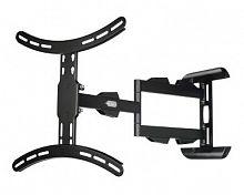 """Кронштейн для телевизора Hama H-108712 черный 32""""-65"""" макс.25кг настенный поворотно-выдвижной и наклонный"""
