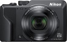 "Фотоаппарат Nikon CoolPix A1000 черный 16Mpix Zoom35x 3"" 4K 81Mb SDXC CMOS 1x2.3 IS opt+el 1minF rotLCD TouLCD 30fr/s HDMI/EN-EL12"