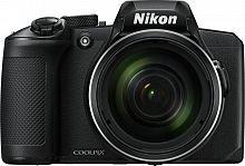 "Фотоаппарат Nikon CoolPix B600 черный 16Mpix Zoom60x 3"" 1080p SDXC CMOS 1x2.3 IS opt 1minF VF HDMI/WiFi/EN-EL12"