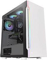 Корпус Thermaltake H200 TG Snow RGB белый без БП ATX 1x120mm 2xUSB3.0 audio bott PSU