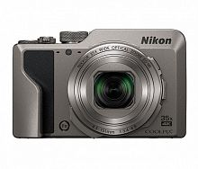 "Фотоаппарат Nikon CoolPix A1000 серебристый 16Mpix Zoom35x 3"" 4K 81Mb SDXC CMOS 1x2.3 IS opt+el 1minF rotLCD TouLCD 30fr/s HDMI/EN-EL12"
