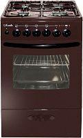 Плита Комбинированная Лысьва ЭГ 404 МС-2у коричневый (стеклянная крышка) реш.чугун