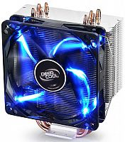 Устройство охлаждения(кулер) Deepcool GAMMAXX 400 BLUE BASIC Soc-FM2+/AM2+/AM3+/AM4/1150/1151/1155 4-pin 18-30dB Al+Cu 130W 640gr LED Ret