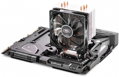Устройство охлаждения(кулер) Deepcool GAMMAXX 400 BLUE BASIC Soc-AM4/AM3+/1150/1151/1200 4-pin 18-30dB Al+Cu 130W 640gr LED Ret фото 8