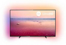 "Телевизор LED Philips 55"" 55PUS6704/60 черный/Ultra HD/50Hz/DVB-T/DVB-T2/DVB-C/DVB-S/DVB-S2/USB/WiFi/Smart TV (RUS)"